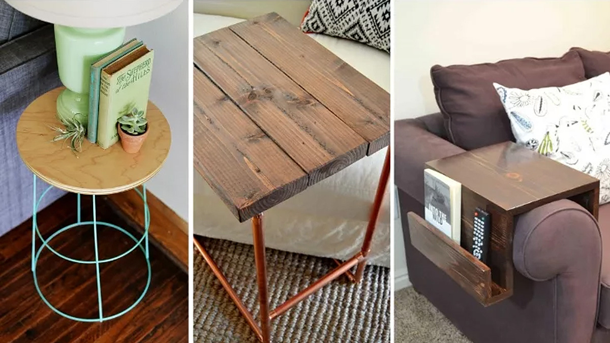 19 Easy & Unique DIY Side Table Ideas You Can Build on a Budget