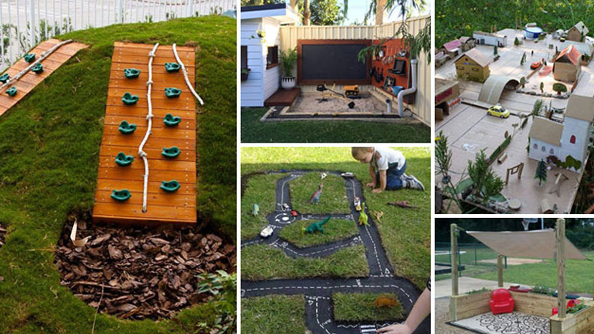 15 Cool and Budget-Friendly Projects for a Kid's Play Area